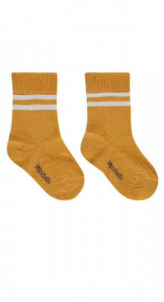 Sokken Vic Double Stripe warm yellow