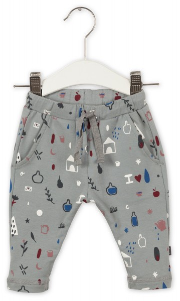 Joggingbroek snow grey/multi color